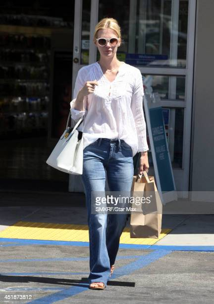 Actress January Jones is seen on July 8 2014 in Los Angeles California