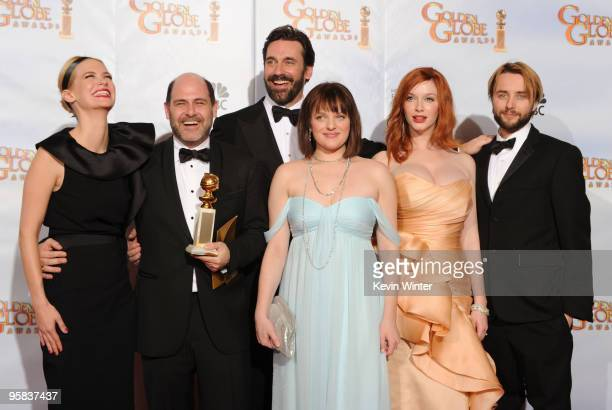Actress January Jones series creator and executive producer Matthew Weiner actor Jon Hamm actress Elisabeth Moss actress Christina Hendricks and...