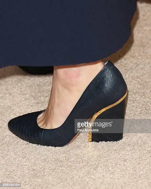 Actress January Jones Shoe Detail attends the screening of FOX's The Last Man On Earth at Landmark Theatre on June 9 2016 in Los Angeles California