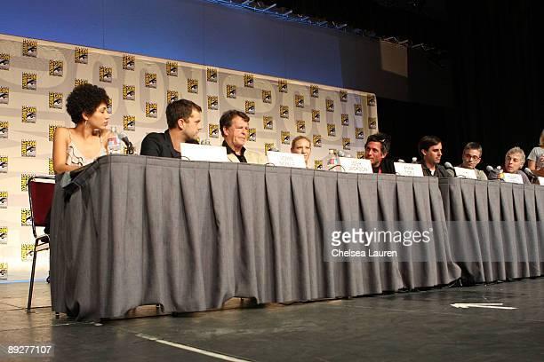 Actress Jasika Nicole, actor Joshua Jackson, actor John Noble, actress Anna Torv, writer J.H. Wyman, writer Roberto Orci, writer Alex Kurtzman and...
