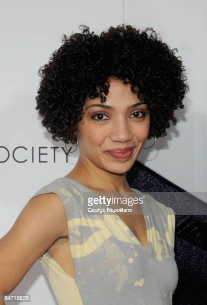 Actress Jasika Nicole attends the Cinema Society and Angel by Thierry Mugler screening of 'The International' at AMC Lincoln Square on February 9...