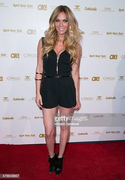 Actress Jasmin Dustin attends OK Magazine's PreOscar event with special guest DJ Havana Brown at Greystone Manor Supperclub on February 27 2014 in...