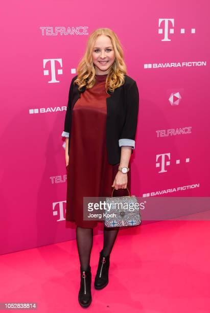 Actress Jasmin Schwiers attend the DeutschLesLandes MagentaTV premiere at Haus der Kunst on October 23 2018 in Munich Germany