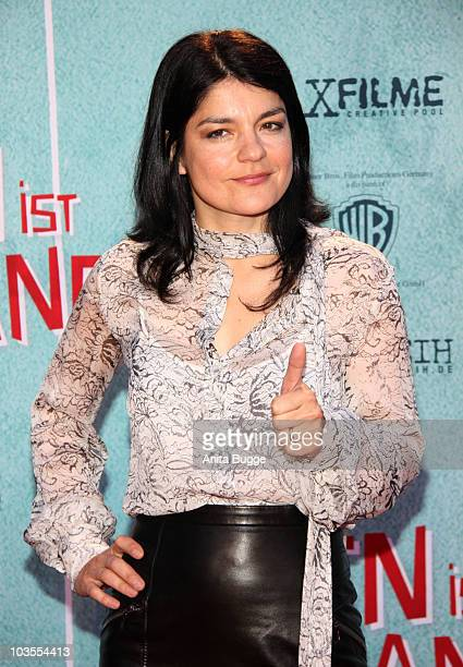 Actress Jasmin Tabatabai attends the 'Das Leben Ist Zu Lang' Germany Premiere at the Kulturbrauerei movie theater on August 23 2010 in Berlin Germany