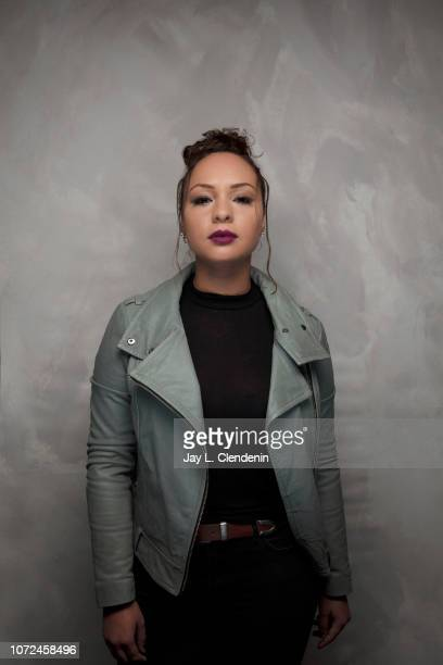 Actress Jasmine Cephas Jones from Monsters and Men is photographed for Los Angeles Times on January 19 2018 in the LA Times Studio at Chase Sapphire...