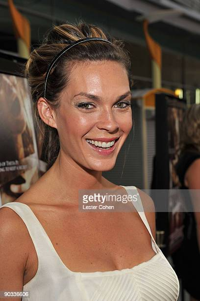 Actress Jasmine Dustin arrives on the red carpet of the Los Angeles premiere of Sorority Row at the ArcLight Hollywood on September 3 2009 in...