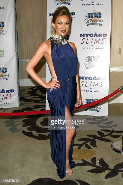 Actress Jasmine Dustin attends the Norby Walters' 24nd annual Night Of 100 Stars Oscar viewing gala held at the Beverly Hills Hotel on March 2 2014...