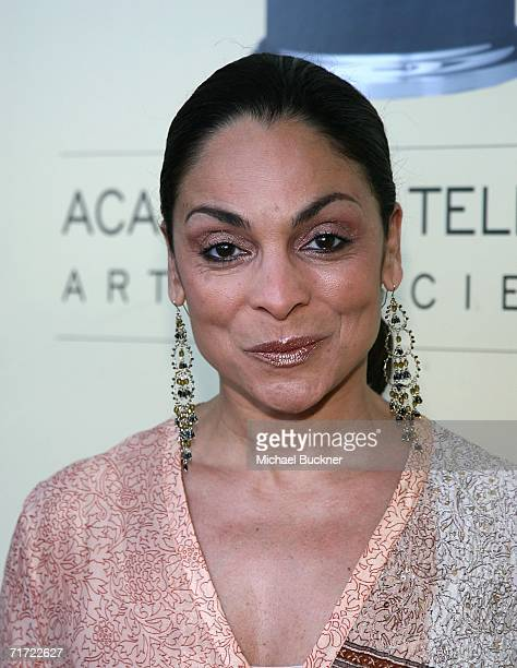 Actress Jasmine Guy arrives at the BAFTA/LAAcademy of Television Arts and Sciences Tea Party at the Century Hyatt on August 26 2006 in Century City...