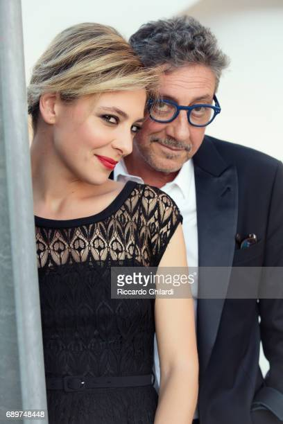 Actress Jasmine Trinca and director Sergio Castellitto are photographed for Self Assignment on May 20 2017 in Cannes France