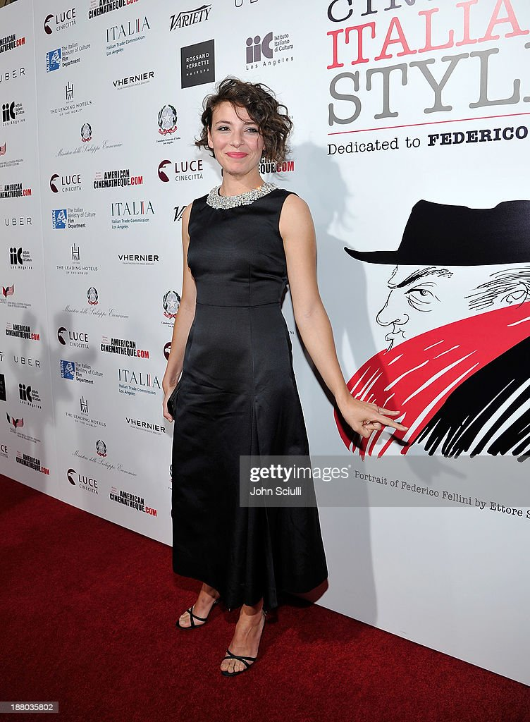 Actress Jasmine Trinca attends Cinema Italian Style 2013 'The Great Beauty' opening night premiere at the Egyptian Theatre on November 14, 2013 in Hollywood, California.