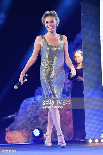 Actress Jasmine Trinca attends Nastri D'Argento 2017 Awards Ceremony on July 1 2017 in Taormina Italy