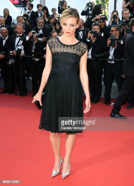 Actress Jasmine Trinca attends the 'Based On A True Story' screening during the 70th annual Cannes Film Festival at Palais des Festivals on May 27...