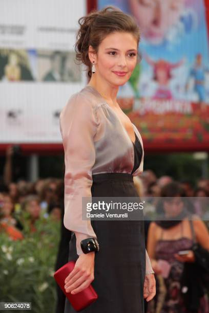 Actress Jasmine Trinca attends the Closing Ceremony Red Carpet And Inside at The Sala Grande during the 66th Venice Film Festival on September 12...
