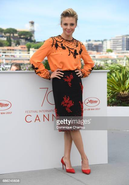 Actress Jasmine Trinca attends the 'Fortunata' photocall during the 70th annual Cannes Film Festival at Palais des Festivals on May 21 2017 in Cannes...