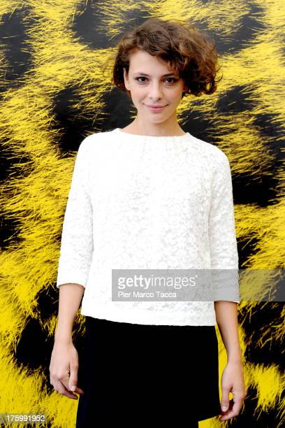 Actress Jasmine Trinca attends 'Une Autre Vie' photocall during the 66th Locarno Film Festival on August 11 2013 in Locarno Switzerland
