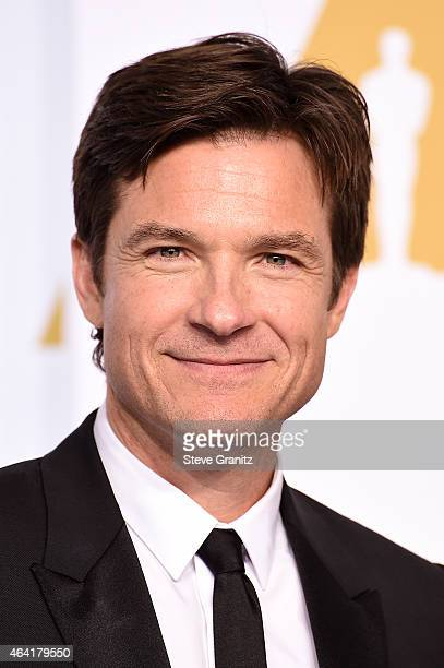 Actress Jason Bateman poses in the press room during the 87th Annual Academy Awards at Loews Hollywood Hotel on February 22 2015 in Hollywood...