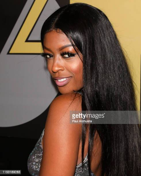 Actress Javicia Leslie attends her birthday celebration on June 01 2019 in Los Angeles California