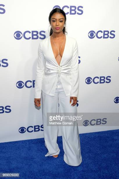 Actress Javicia Leslie attends the 2018 CBS Upfront at The Plaza Hotel on May 16 2018 in New York City