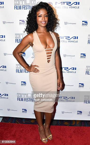Actress Javicia Leslie attends the premiere of Gravitas Ventures' All Out Dysfunktion at Regal Cinemas LA Live on September 23 2016 in Los Angeles...