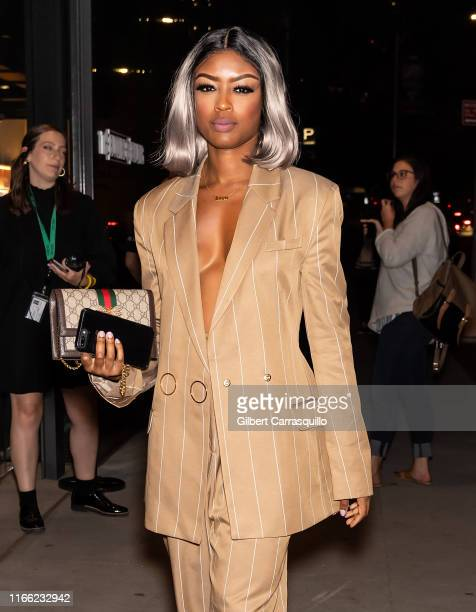 Actress Javicia Leslie is seen arriving to ELLE Women in Music presented by Spotify and hosted by Nina Garcia Jameela Jamil E Entertainment on...
