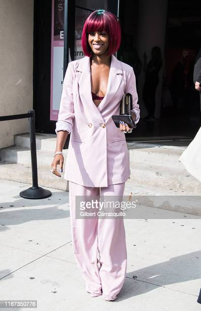 Actress Javicia Leslie is seen leaving S by Serena Williams Fashion Show during New York Fashion Week on September 10 2019 in New York City