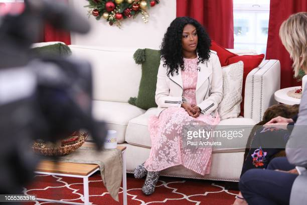 Actress Javicia Leslie visits Hallmark's Home Familyat Universal Studios Hollywood on October 29 2018 in Universal City California