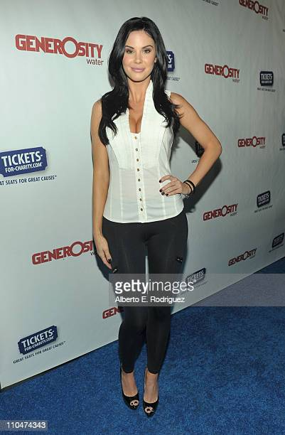 Actress Jayde Nicole arrives to Generosity Water's 3rd Annual Night of Generosity benefit on March 18 2011 in Los Angeles California
