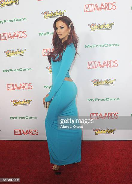 Actress Jayden Cole arrives at the 2017 Adult Video News Awards held at the Hard Rock Hotel Casino on January 21 2017 in Las Vegas Nevada