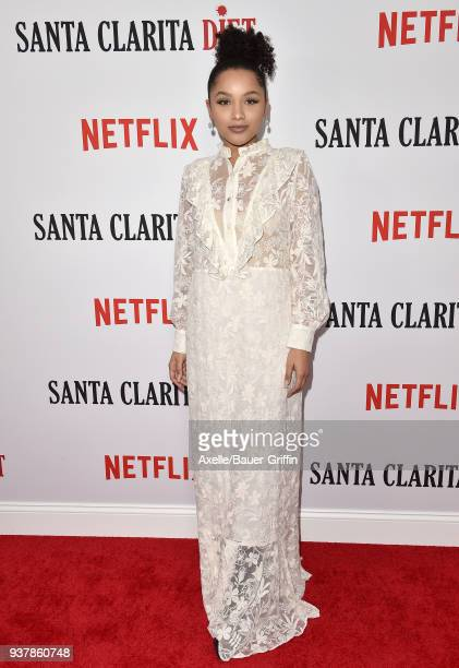 Actress Jaylen Barron attends Netflix's 'Santa Clarita Diet' season 2 premiere at The Dome at Arclight Hollywood on March 22 2018 in Hollywood...