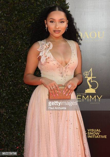 Actress Jaylen Barron attends the 45th Annual Daytime Creative Arts Emmy Awards at the Pasadena Civic Auditorium on April 27 2018 in Pasadena...