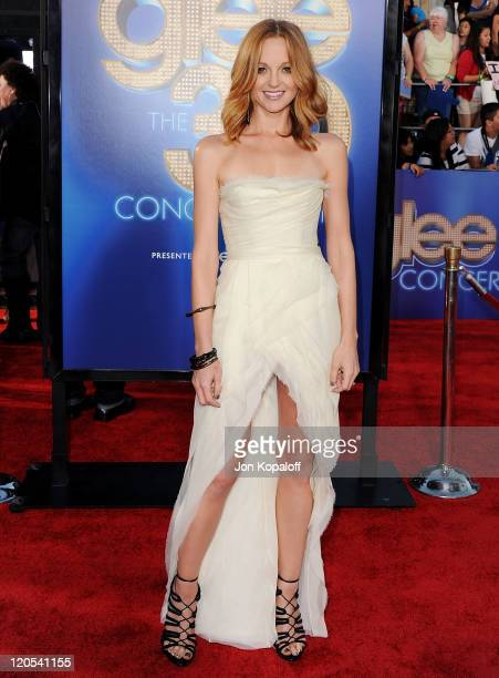 """Actress Jayma Mays arrives at the Los Angeles Premiere """"GLEE: The 3D Concert Movie"""" at Regency Village Theatre on August 6, 2011 in Westwood,..."""