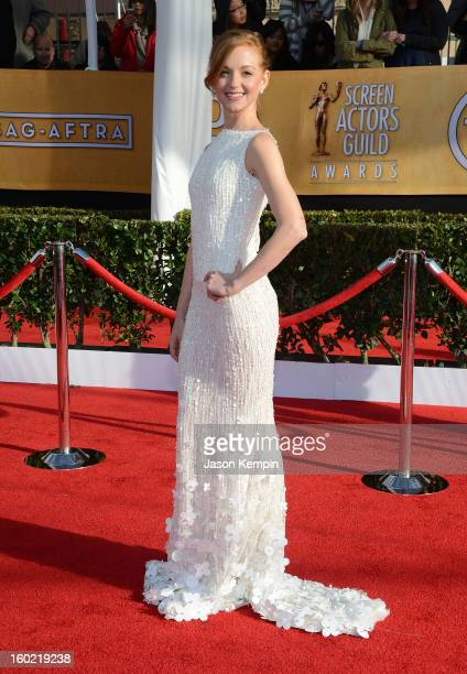 Actress Jayma Mays attends the 19th Annual Screen Actors Guild Awards at The Shrine Auditorium on January 27 2013 in Los Angeles California