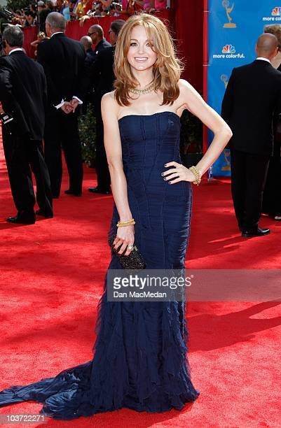 Actress Jayma Mays attends the 62nd Annual Primetime Emmy Awards at Nokia Theatre Live LA on August 29 2010 in Los Angeles California