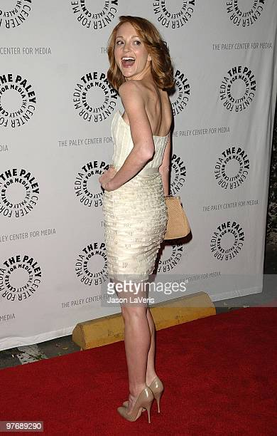 Actress Jayma Mays attends the 'Glee' event at the 27th annual PaleyFest at Saban Theatre on March 13 2010 in Beverly Hills California
