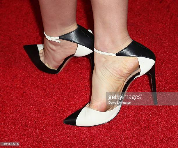 Actress Jayma Mays shoe detail attends the 2017 NBCUniversal Winter Press Tour Day 2 at the Langham Hotel on January 18 2017 in Pasadena California