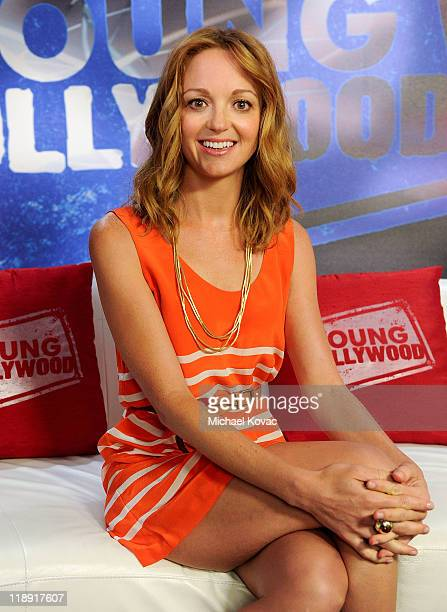 Actress Jayma Mays visits YoungHollywoodcom at Young Hollywood Studio on July 12 2011 in Los Angeles California