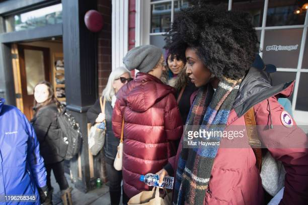 Actress Jayme Lawson wears Canada Goose during the Sundance Film Festival on Main Street on January 25 2020 in Park City Utah