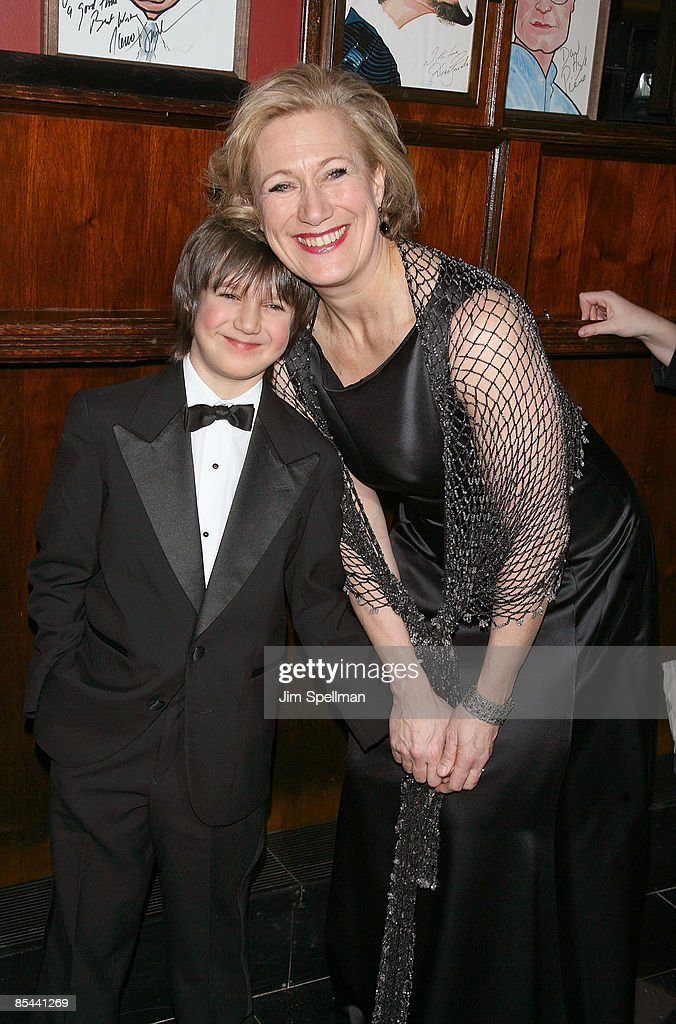 "Actress Jayne Atkinson and son attend the ""Blithe Spirit ..."