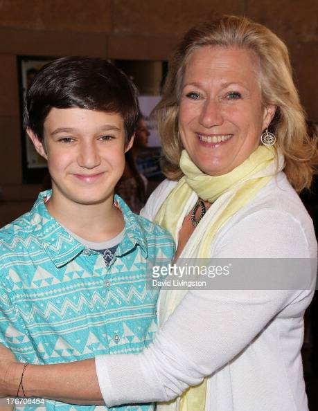 Actress Jayne Atkinson and son Jeremy Gill attend the ...