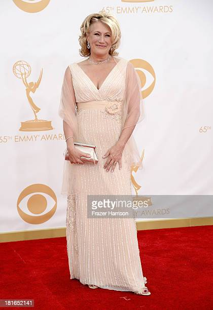 Actress Jayne Atkinson arrives at the 65th Annual Primetime Emmy Awards held at Nokia Theatre LA Live on September 22 2013 in Los Angeles California