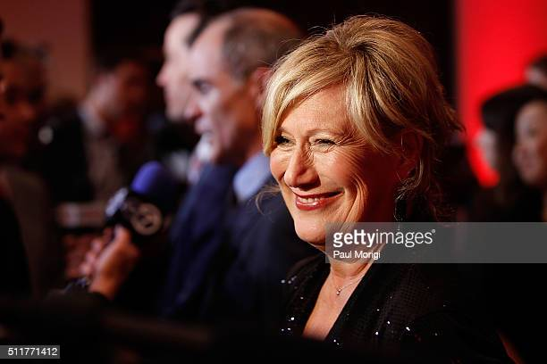 Actress Jayne Atkinson attends the portrait unveiling and season 4 premiere of Netflix's House Of Cards at the National Portrait Gallery on February...