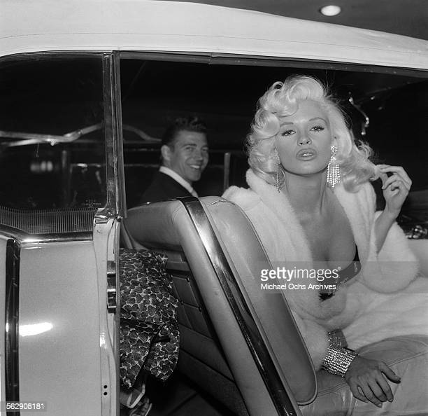 Actress Jayne Mansfield and Mickey Hargitay attend an event in Los Angeles,California.