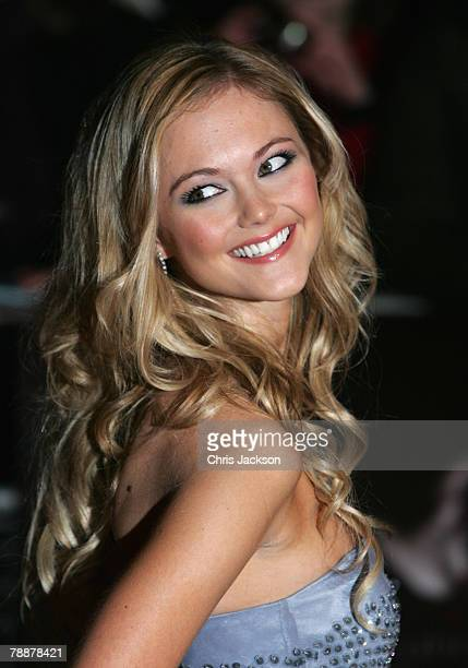 Actress Jayne Wisener attends the European Premiere of 'Sweeney Todd' at the Odeon Leicester Square on January 10 2008 in London England