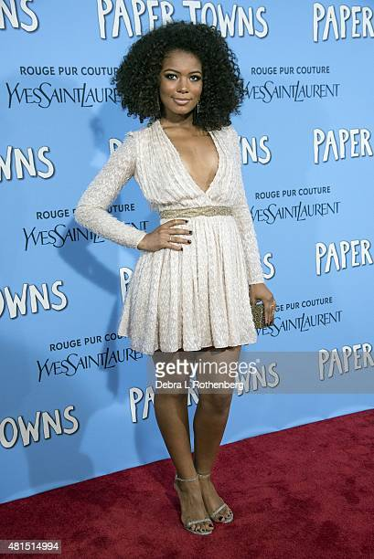 Actress Jaz Sinclair at the New York premiere of Paper Towns at AMC Loews Lincoln Square on July 21 2015 in New York City