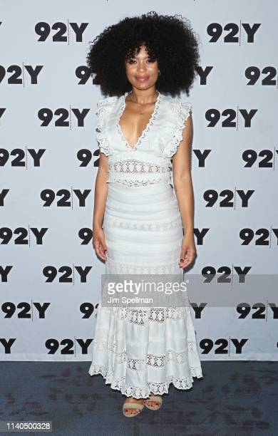 Actress Jaz Sinclair attends a conversation for Netflix's Chilling Adventures Of Sabrina at the 92nd Street Y on April 04 2019 in New York City