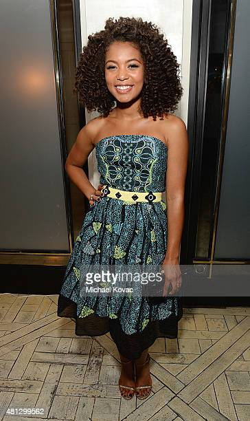 Actress Jaz Sinclair attends the afterparty of WSJ Magazine And Forevermark Host A Special Los Angeles Screening Of Paper Towns at The London West...