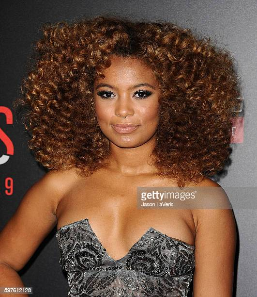 Actress Jaz Sinclair attends the premiere of When the Bough Breaks at Regal LA Live Stadium 14 on August 28 2016 in Los Angeles California