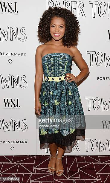 Actress Jaz Sinclair attends WSJ Magazine And Forevermark Host A Special Los Angeles Screening Of Paper Towns at The London West Hollywood on July 18...