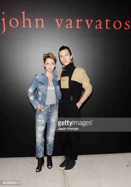 Actress Jazmin Grace Grimaldi and Model Ian Mellencamp attend the John Varvatos x MGK Fashion Week Concert at John Varvatos 315 Bowery Boutique on...