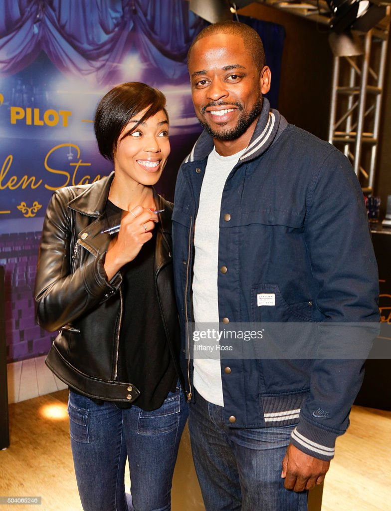 Actress Jazmyn Simon and actor Dule Hill attend the GBK & Pilot Pen Golden Globes 2016 Luxury Lounge - Day 1 at W Hollywood on January 8, 2016 in Hollywood, California.